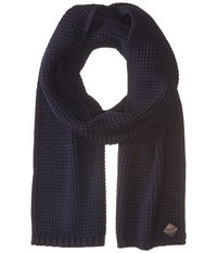Cole Haan Thermal Stitch Muffler Blue Scarves