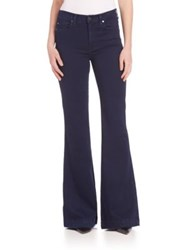 7 For All Mankind High Waisted Flared Jeans Featherweight Rich Blue
