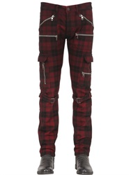 Diesel Black Gold 17Cm Plaid Wool Cargo Pants