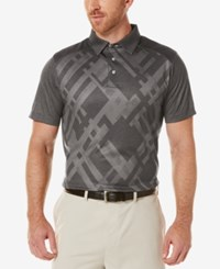 Pga Tour Men's Patterned Golf Polo Asphalt