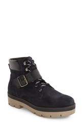 Topshop Women's Autumn Platform Boot Navy Blue