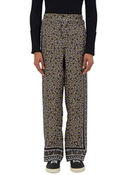 Fendi Geometric Printed Pyjama Pants Grey