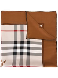 Burberry Classic Check Scarf Brown