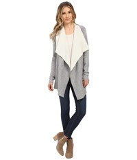 Culture Phit Tamara Double Faced Cardigan Grey Ivory Women's Sweater Brown