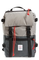 Topo Designs Men's 'Rover' Backpack Grey Charcoal Silver
