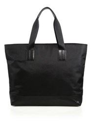 Saks Fifth Avenue Nylon And Leather Tote Black