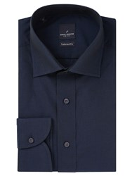 Daniel Hechter Cotton Twill Tailored Fit Shirt Navy