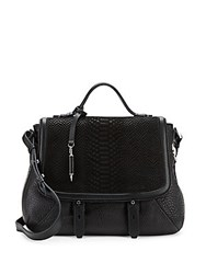 Mackage Embossed Leather Satchel Black