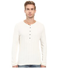 John Varvatos Long Sleeve Button Front Henley K2319s3b Ivory Men's Clothing White