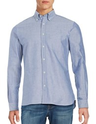 Brooks Brothers Oxford Chambray Sportshirt Blue