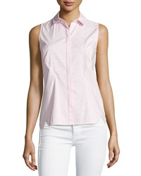 Lafayette 148 New York Elizabeth Sleeveless Striped Shirt Bellini Multi