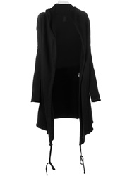 Thom Krom Draped Open Front Cardigan Black