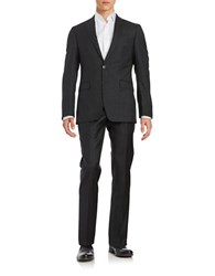 Calvin Klein Two Button Wool Suit Set Charcoal