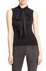 Alice Olivia Women's 'Glynda' High Neck Sleeveless Blouse With Bow