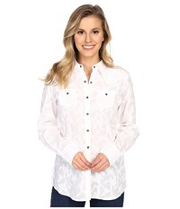 Ariat Maggie Snap Shirt White Women's Long Sleeve Button Up