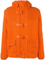 Bark Quilted Hooded Jacket Yellow Orange