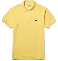 Lacoste Cotton Pique Polo Shirt Yellow