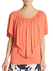 Saks Fifth Avenue Flutter Sleeve Top Coral