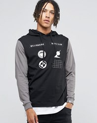 Billionaire Boys Club Hooded Long Sleeve T Shirt Black Charcoal