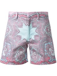 Dresscamp Paisley Print Shorts Pink And Purple