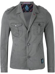 Guild Prime Notched Lapel Military Jacket Green