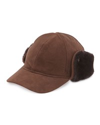 Ugg Suede Cap W Shearling Ear Flaps Chocolate