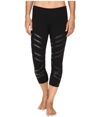 Alo Yoga Airbrushed Capri Black Lineal Women's Workout