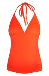 Topshop Women's Braided Halter Maternity Tankini Top