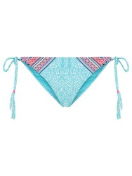 Accessorize Festival Contrast Bikini Brief Multi Bright