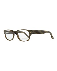 Tom Ford Hollywood Fashion Glasses With Clip On Shades Green