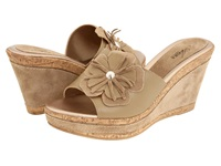 Spring Step Narcisse Beige Leather Women's Wedge Shoes