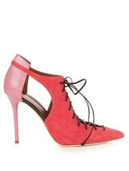 Malone Souliers Montana Suede And Leather Pumps Pink Multi