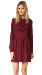 Wayf Remember Me Pintuck Dress Merlot