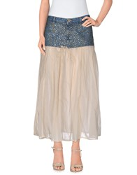 Pence Skirts 3 4 Length Skirts Women Beige