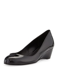 Delman Doll Patent Leather Wedge Black
