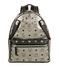Mcm Small Stark Backpack Female Silver