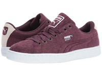 Puma Basket Classic Embossed Wool Wine Tasting Lilac Snow Men's Shoes Burgundy