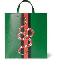 Gucci Painted Full Grain Leather Tote Bag Green