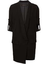 Alexandre Vauthier Shawl Lapel Long Jacket Black
