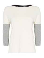 Max Mara Martina 3 4 Constract Sleeve Jumper White