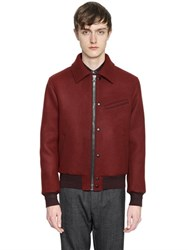 Lanvin Wool Cloth Bomber Jacket