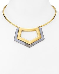 Botkier Two Tone Collar Pendant Necklace Gold