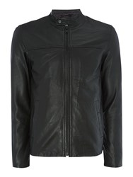 Selected Men's Homme Leather Jacket Black