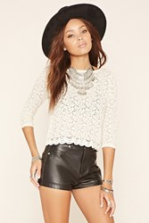 Forever 21 Scalloped Lace Top