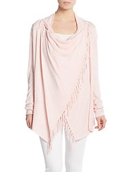 Saks Fifth Avenue Fringed Cardigan Shell