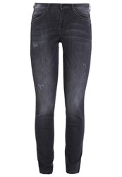M A C Mac Slim Fit Jeans Dark Grey Authentic Wash Grey Denim