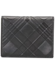 Thom Browne Embossed Plaid Wallet Black