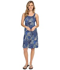 Columbia Freezer Iii Dress Stormy Blue Dot Floral Women's Dress