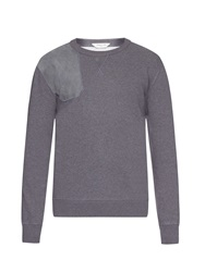 Cerruti Suede Panelled Cotton Jersey Sweatshirt