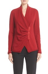 Lafayette 148 New York Women's 'Iconic Collection' Cashmere Gathered Asymmetrical Sweater